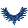 Crystal Motifs Necklace Angel Blue Aurora Borealis